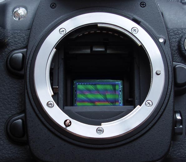 DSLR camera with mirror down